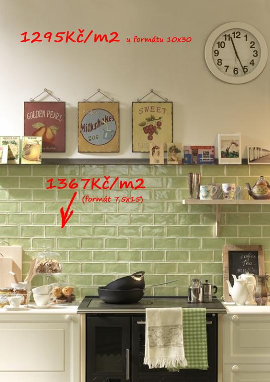 Retro obklad do kuchyně Tonalite Kraklé  Tavella Kraklé Erba Chiara