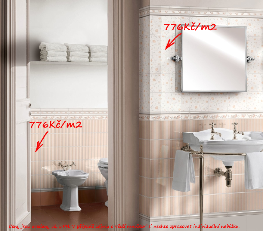 Retro koupelny Brennero Ricordi Romantica Salmone