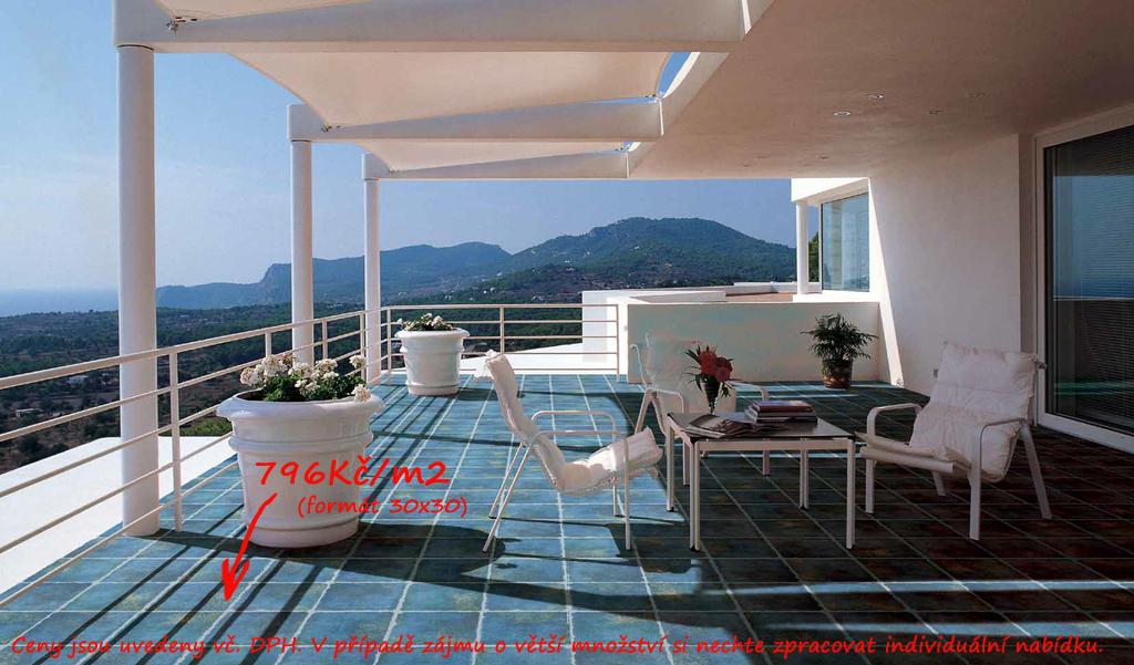 Venkovní dlažba fotogalerie Cerdomus Kyrah Ocean Blue