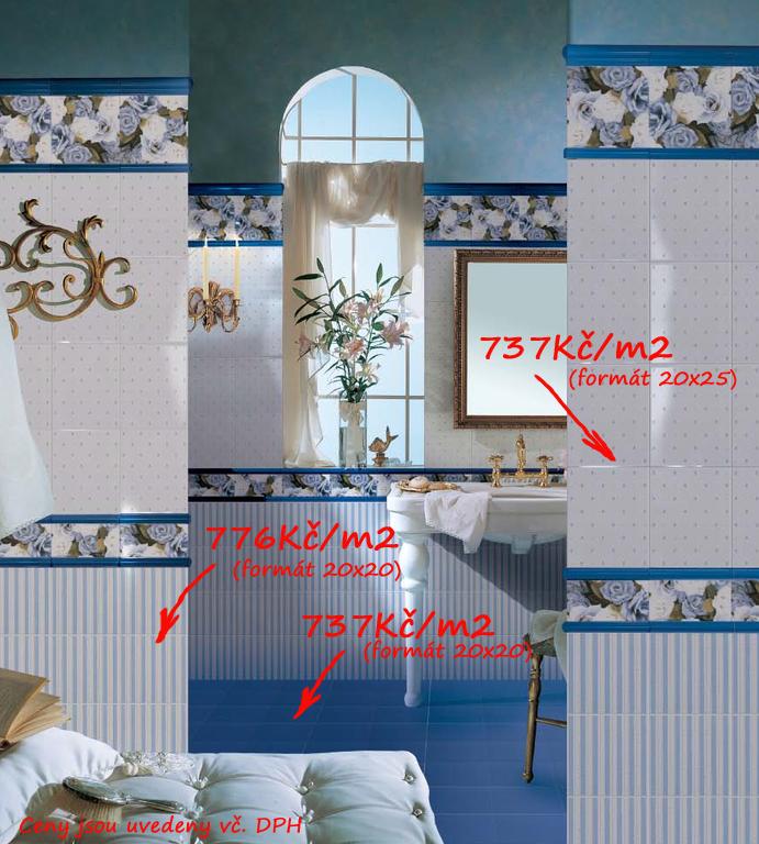 Retro koupelna Brennero Ricordi Blooming Bleu