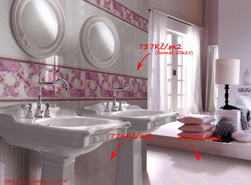 Retro koupelna Brennero - Ricordi Blooming