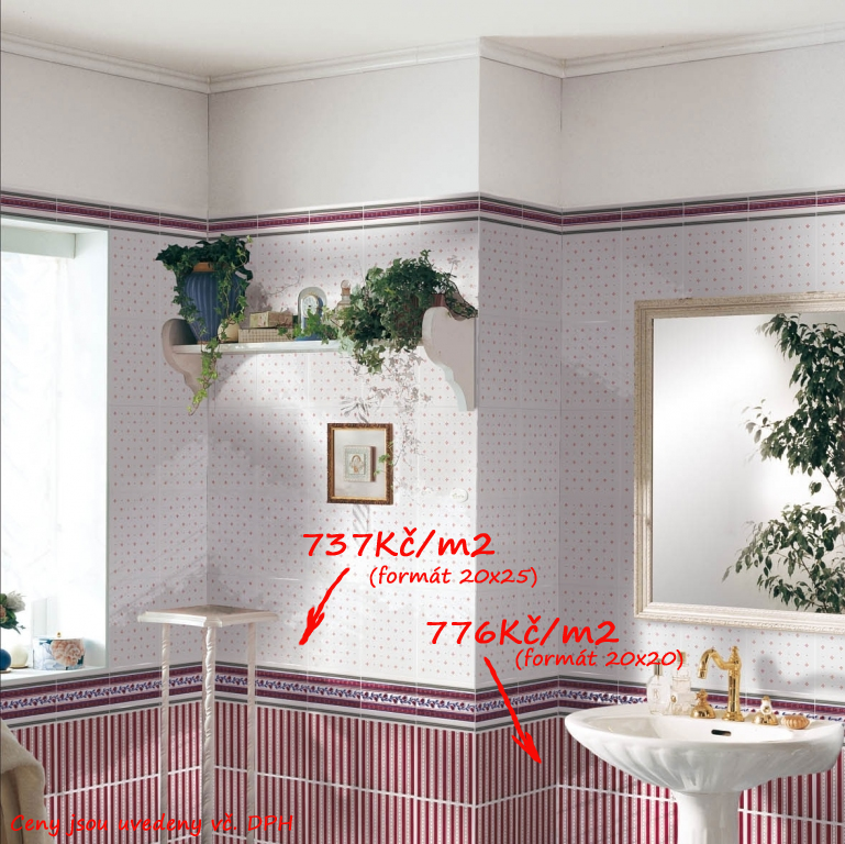 Obklady koupelna inspirace Brennero - Ricordi Country - Bordeaux