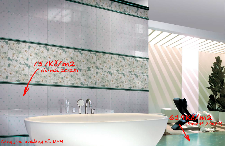 Retro koupelny inspirace Brennero Ricordi Blooming