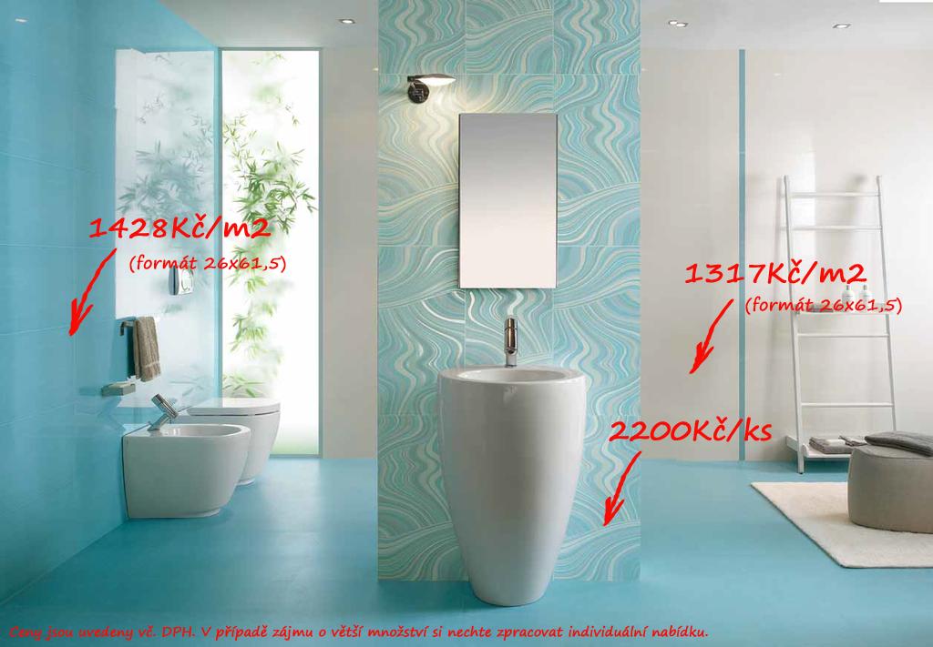 Obklady koupelna modrá Naxos Kilim Azur & Fascia Agra Acqua