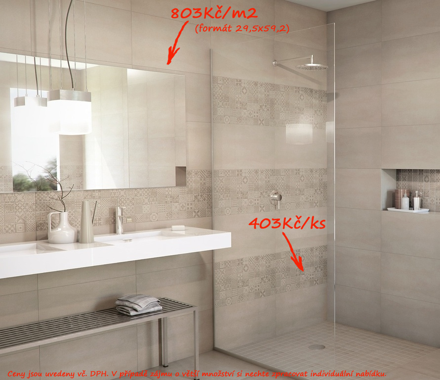 Luxusní koupelna Aleluia Ceramicas Krea Grey & Dec. Hidraulico