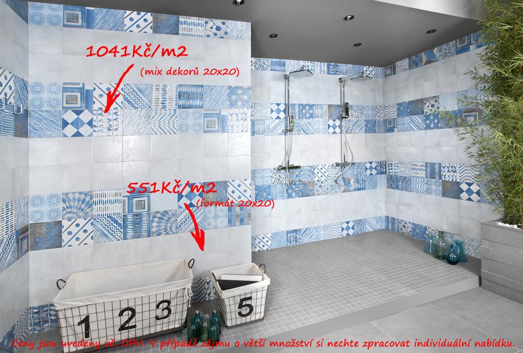 Moderni koupelna Del Conca PL Portland Blu