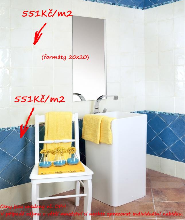 Rekonstrukce koupelny fotogalerie Del Conca CM Corti di Canepa Glamour Blu