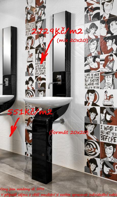 Koupelny v paneláku inspirace Del Conca  BG/KN - Lupin the 3rd
