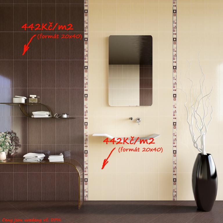 Koupelna hnědá béžová Del Conca MR Movida MR 2 & 22