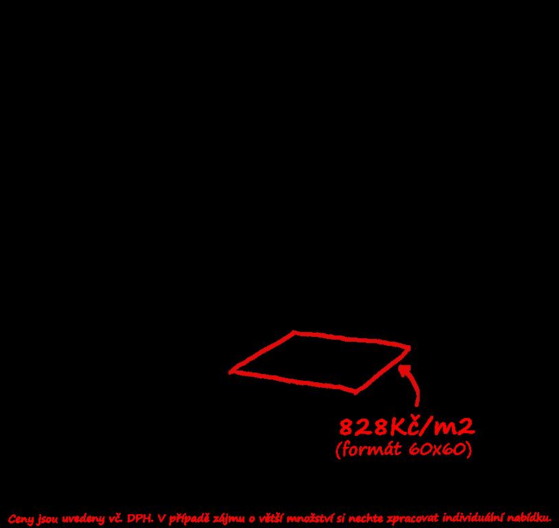 Slinutá dlažba barva khaki Saime Block Greige