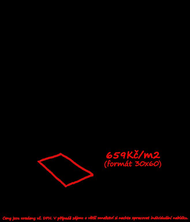 Moderní černá dlažba Saime Kaleido Nero