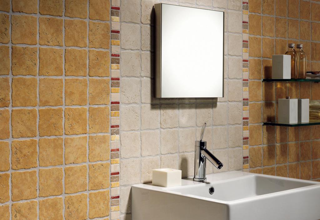 Koupelna ve venkovském stylu Del Conca HTV Tivoli HTV Bianco & Giallo