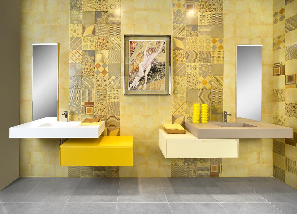 Koupelny fotogalerie Del Conca  PL Portland Senape