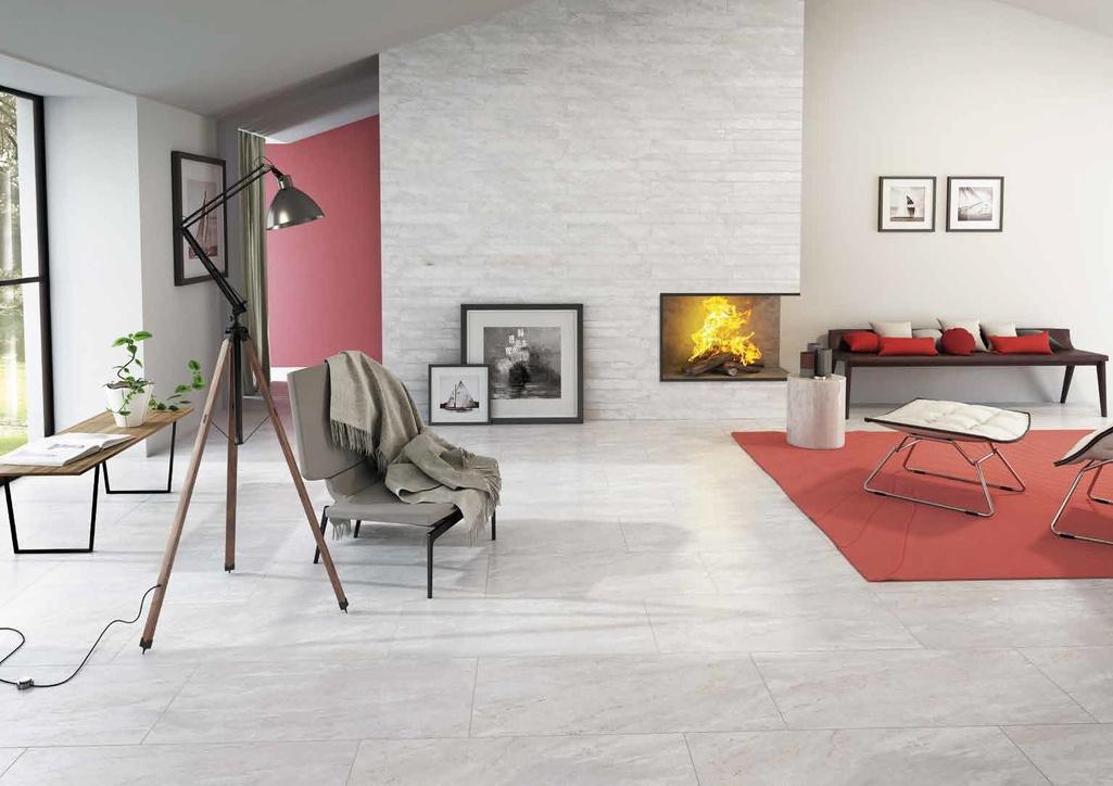Slinutá dlažba Monocibec Dolomite White & White muretto