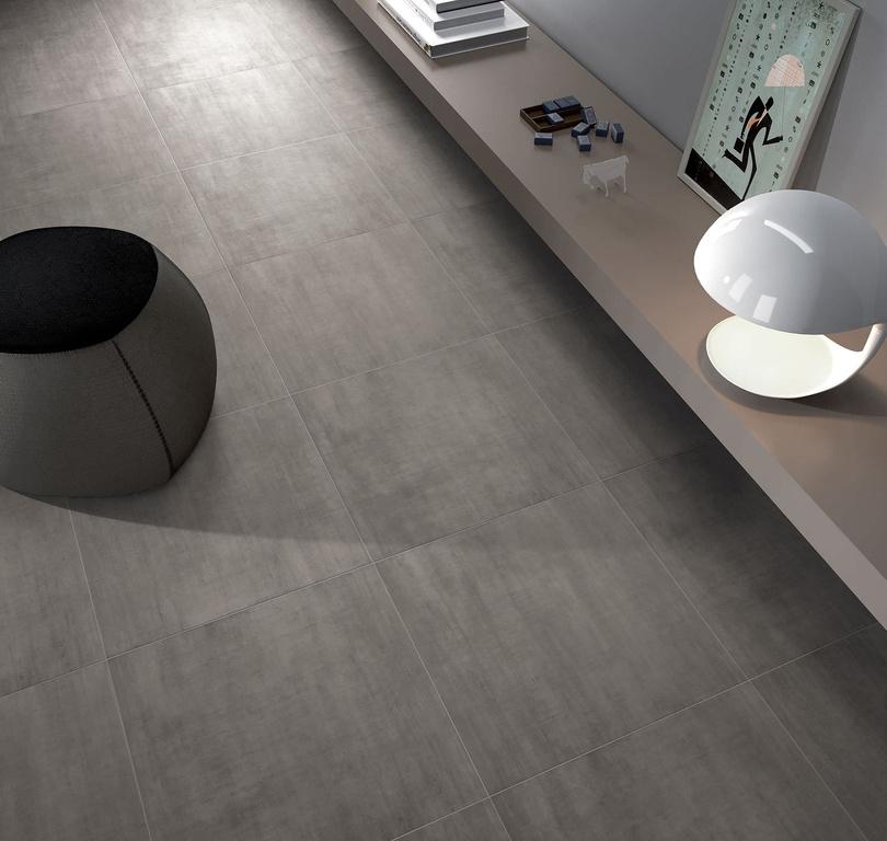 Tmavě šedá slinutá dlažba Monocibec Modern Dark Grey