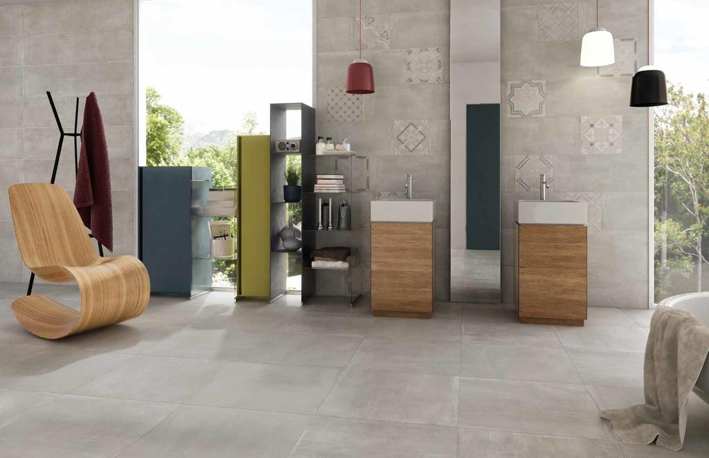 galerie koupelny Monocibec - Thema - Steel & Formella Thema Mix