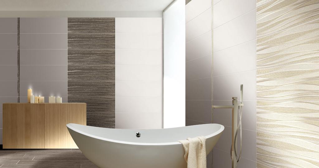 Jemná béžovo bílá koupelna Brennero Next Onde Cream & Bronze