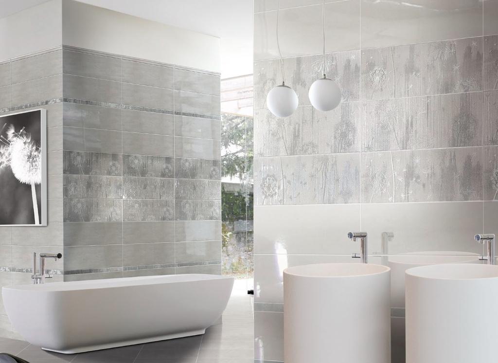 Moderní obklady v koupelně Brennero Porcellana Joy Grey