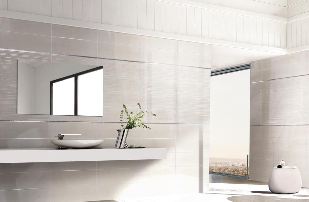 Bílé obklady v koupelně Brennero Porcellana Way White