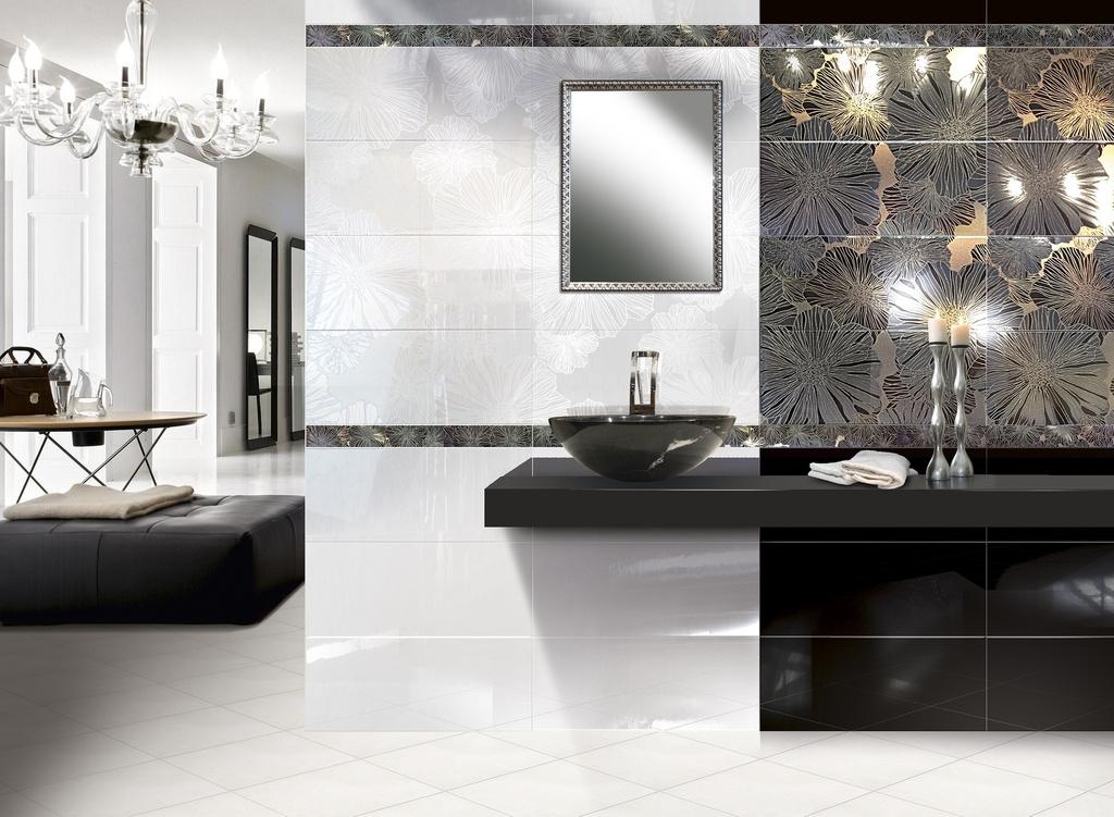 Moderní obklad v koupelně Brennero Presuntuosa Appeal Bianco & Nero