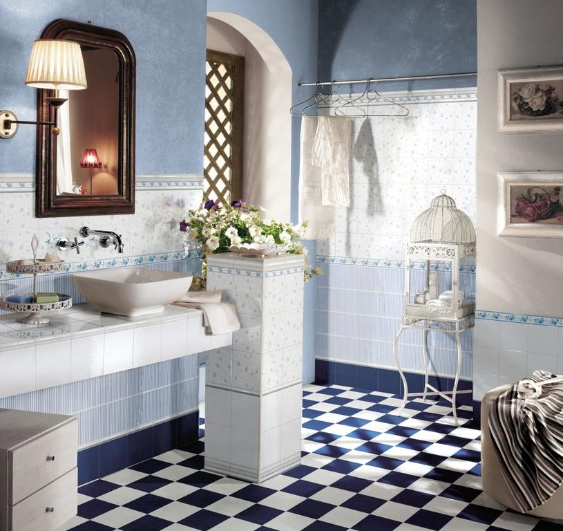 Romantický obklad Brennero Ricordi Romantica Bleu
