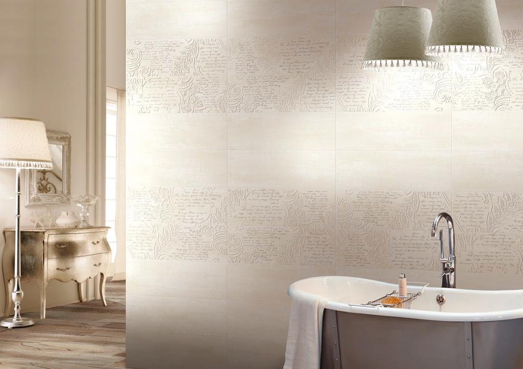 Obklady v interieru koupelen ve fotogalerii  Brennero Touch  Charachter Cream