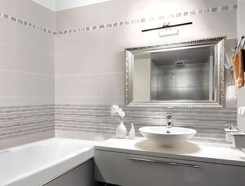 Šedý obklad v koupelně Brennero Touch Reflex Grey