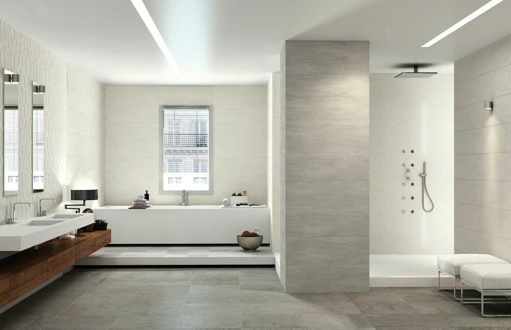 Velkoformátový obklad do koupelny Naxos Start White Clay & Concrete
