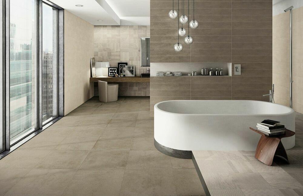 Koupelna s dekory Naxos Start Plaster & Taupe