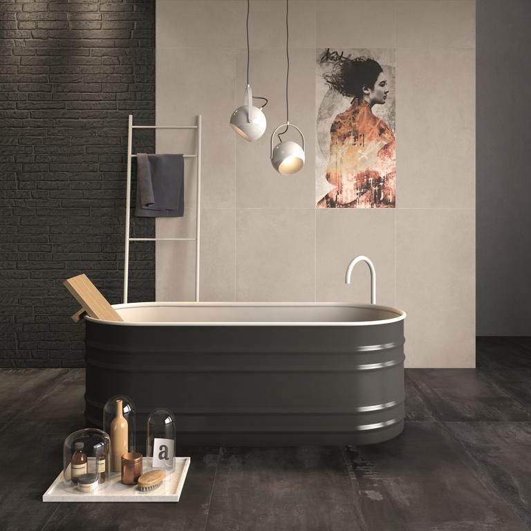 Nevšední koupelna ABK Do Up Cover Tortora, Dec. Cover Geisha, Street Black & Steel Dark