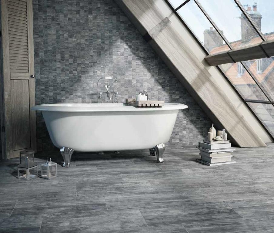 Obklady do koupelny mozaika Ricchetti Cortex 3.6 Dark Grey & Mos. Dark Grey