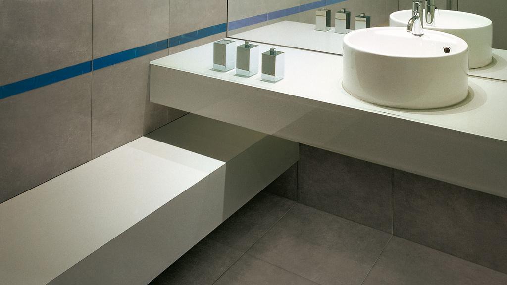 Velkoformátové obklady do koupelny Marca Corona Alchimie Grigio