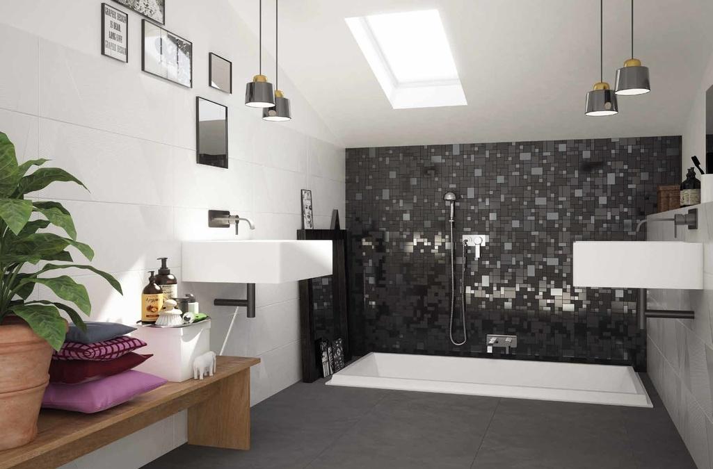 Mozaika několika formátů v koupelně Marca Corona Different Glam
