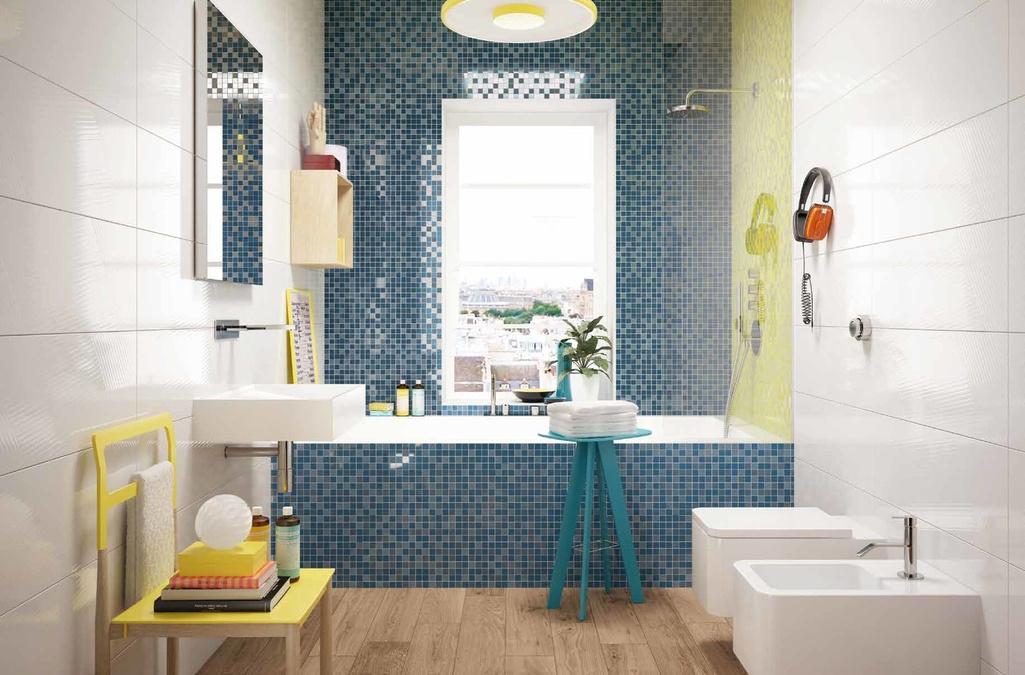 Modrá mozaika v koupelně Marca Corona Different Colour Attack