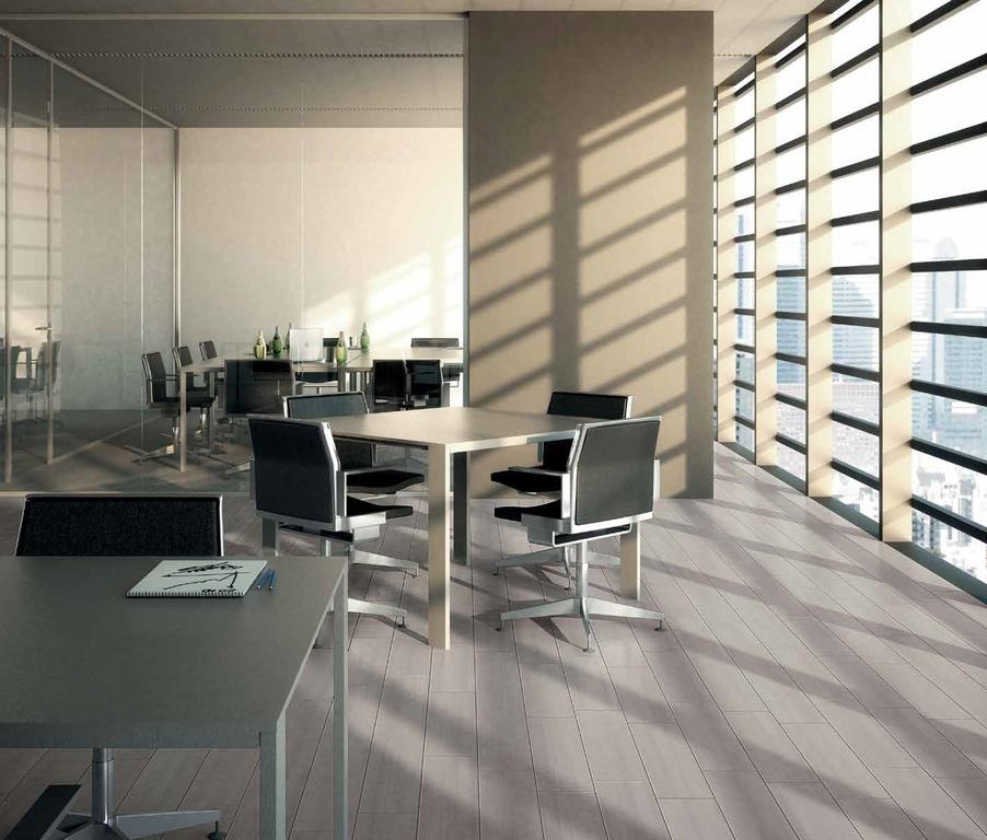 Světlá šedobéžová dlažba s motivem dřeva Marca Corona Eclipse Grey