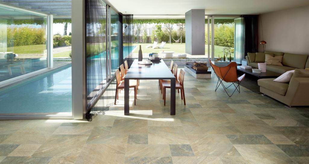přírodním kamenem inspirovaná dlažba Ricchetti Digi_Stone Sea Green