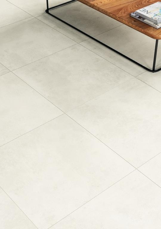 Bílá slinutá dlažba v pokoji Ceramic Industry White