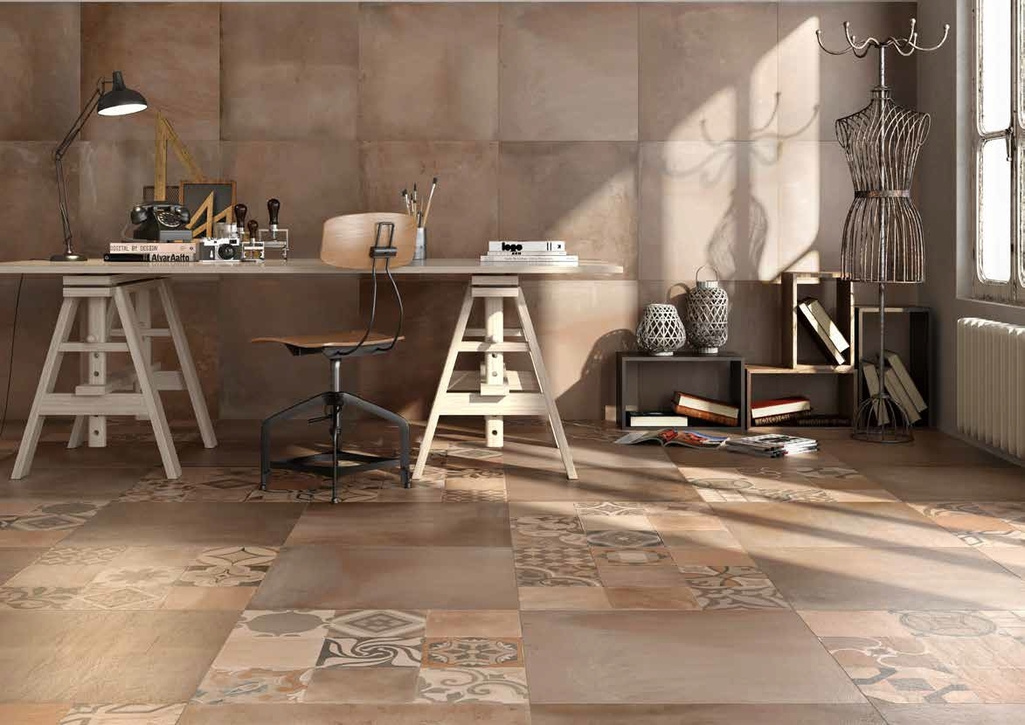 cihelná dlažba s dekorem Manifattura del Duca Terracotta Argilla
