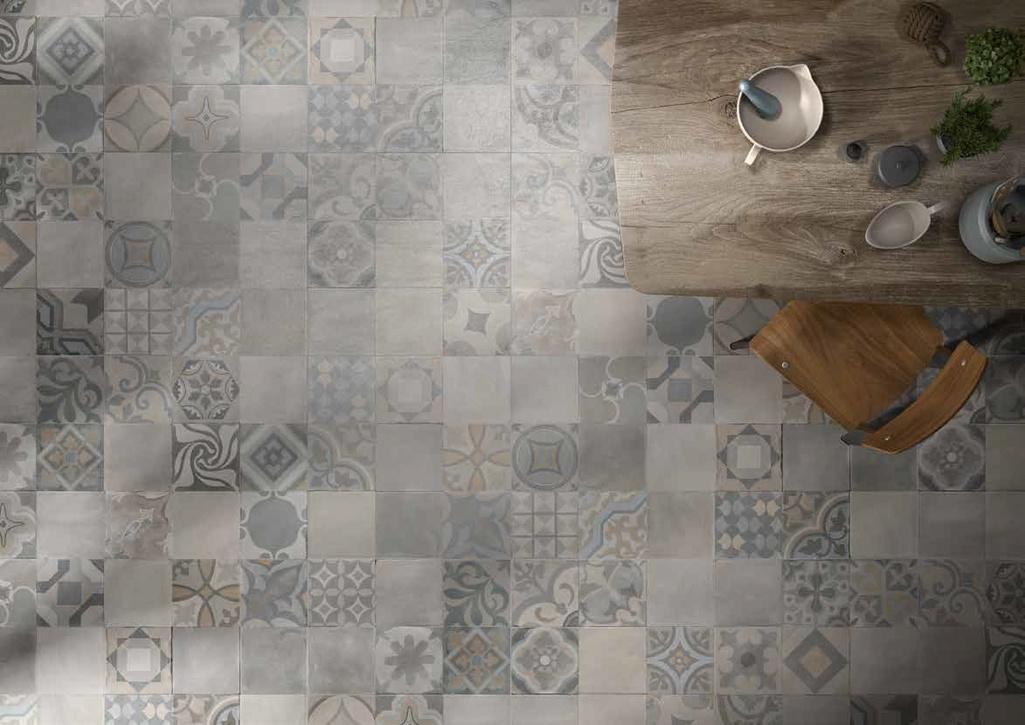 Dekory  v dlažbě Manifattura del Duca Terracotta Cenere