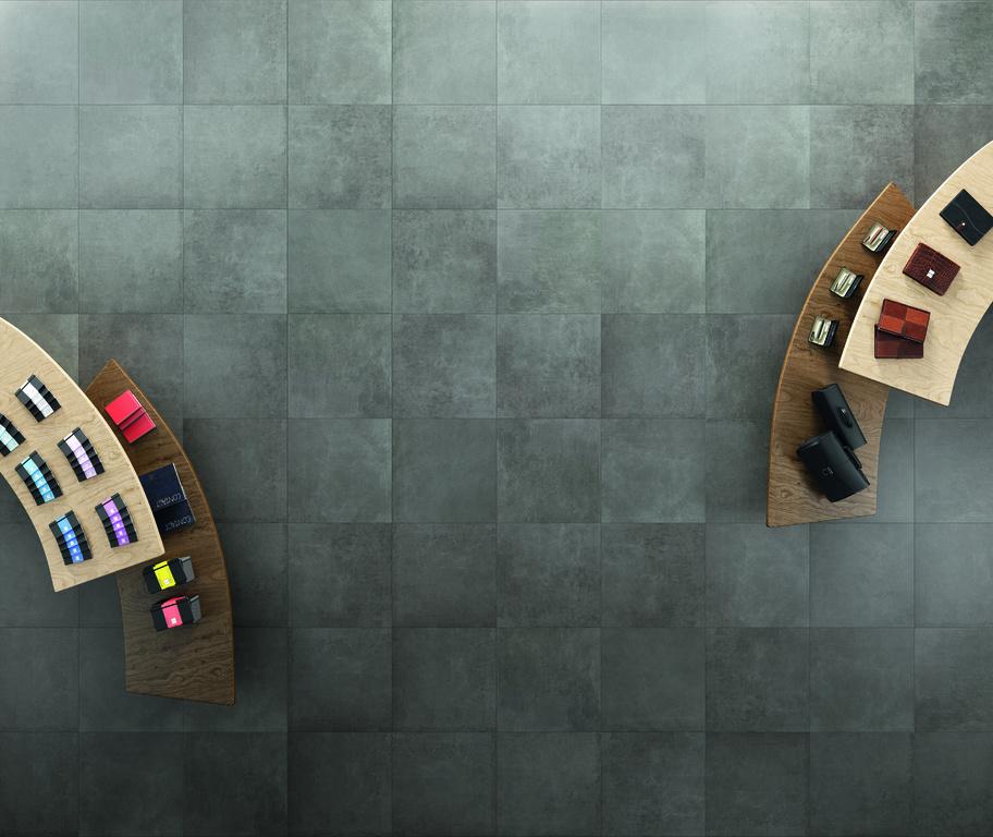 Šedozelená dlažba Refin Bricklane Grey