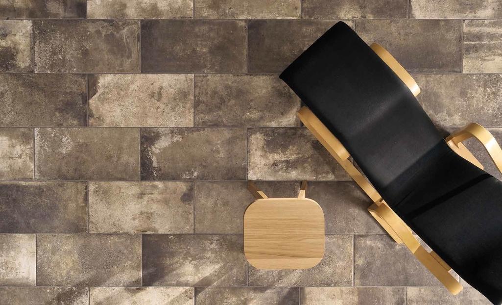 Proměnlivá hnědá cihelná dlažba Coem Ceramiche Bricklane Bruno