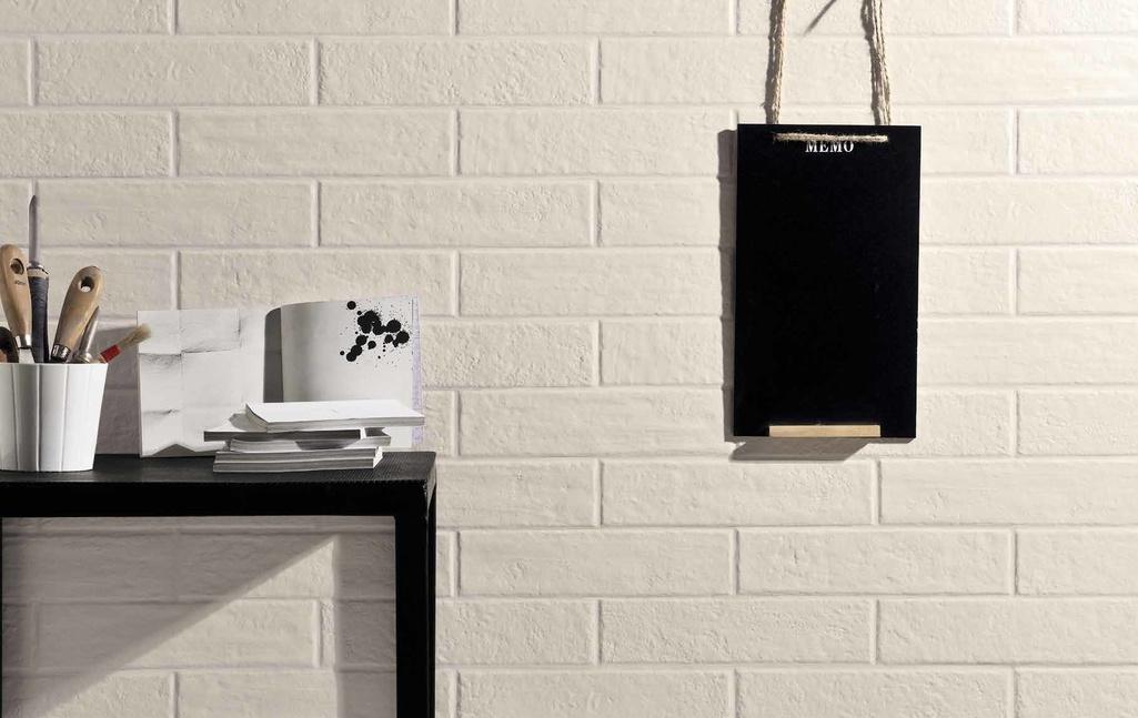 Bílá dlažba struktura cihly Coem Ceramiche Bricklane Total White