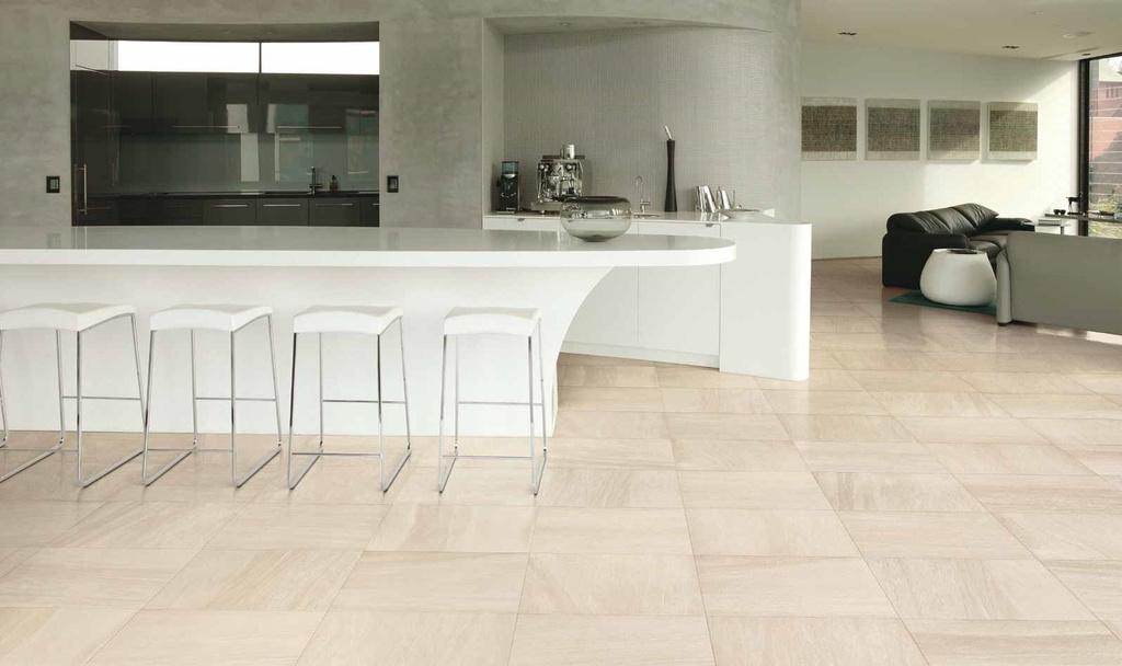 Světlá dlažba s kamenným designem Coem Ceramiche Pietra Valmalenco Bianco