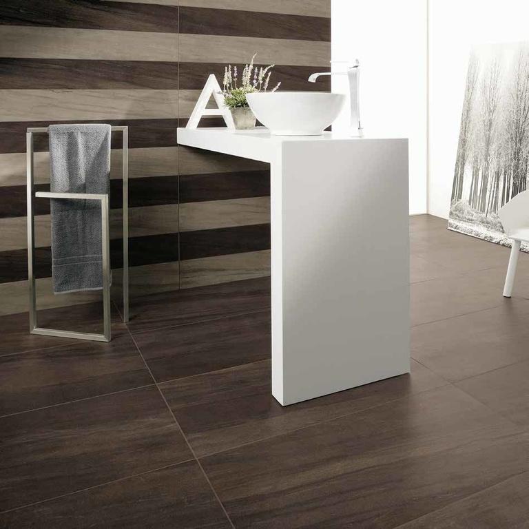 Dlažba design hnědý Travertin Coem Ceramiche Sequoie Black Boole & Grey Grant