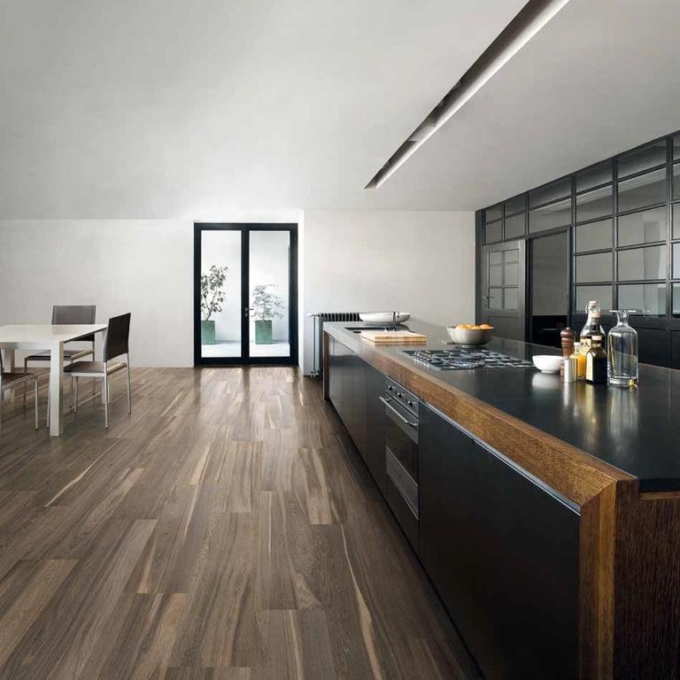 hnědá dlažba s designem dřeva Coem Ceramiche Signum Palissandro Brasil