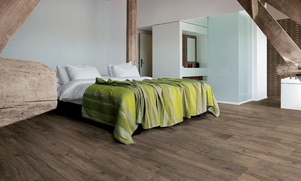 Dřevěná dlažba v podkroví Ergon Woodtalk Brown Flax
