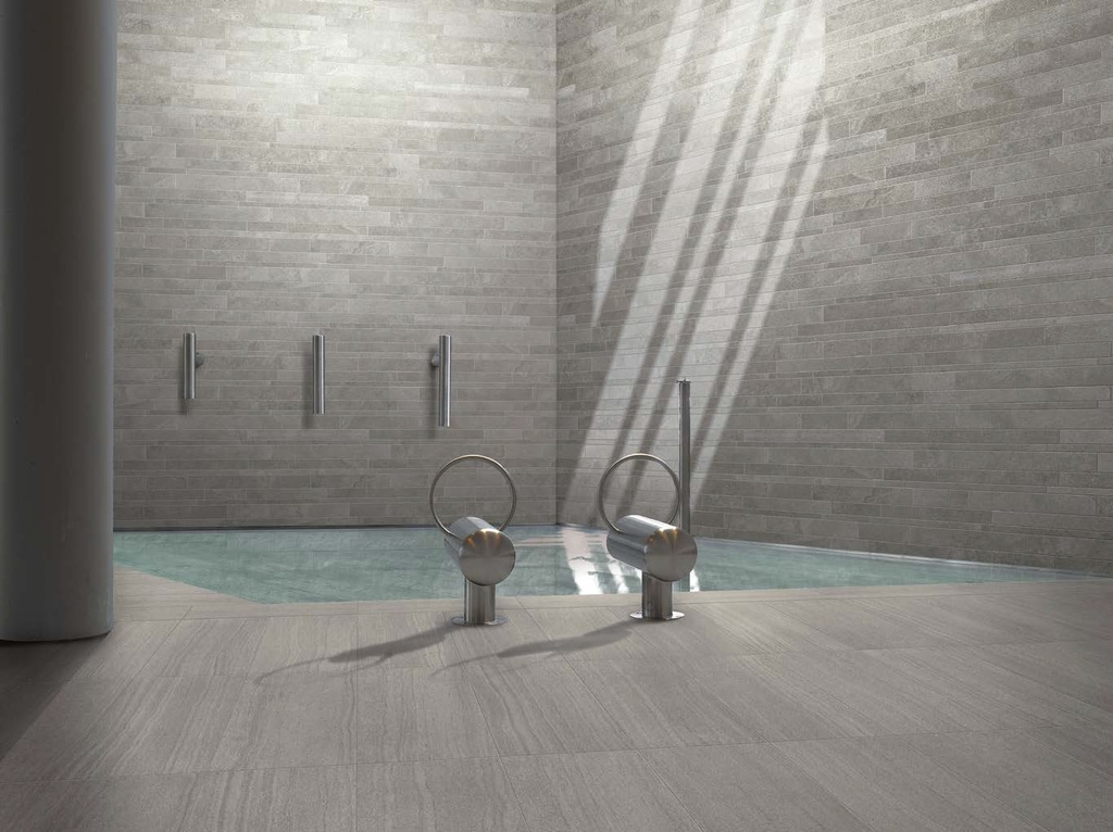 Šedá žulová keramická dlažba Ergon Stone Project Grey
