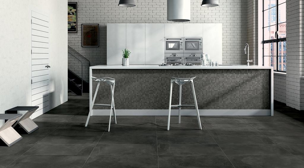 Dlažba v moderní KUCHYNI Castelvetro Fusion Antracite