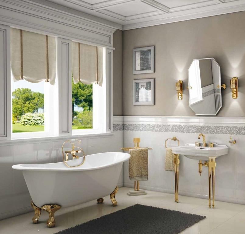Bílozlatá varianta koupelny Petracer's Gran Galà Mary