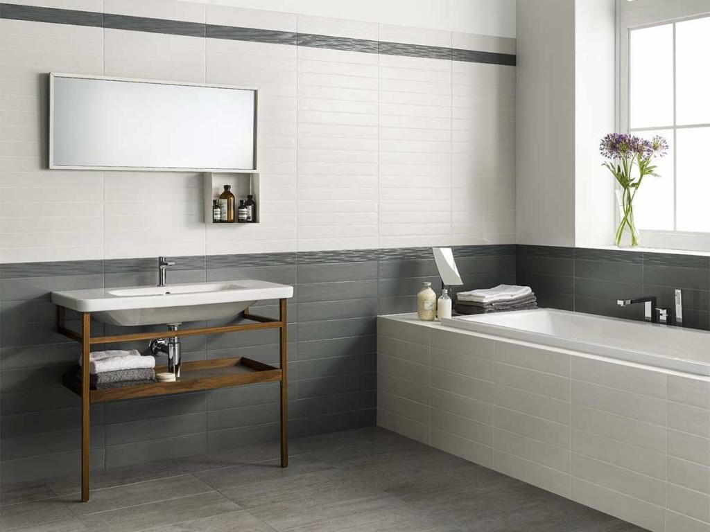Obklady do koupelny fotogalerie Vám představuje Ascot Brickwall Oyster & Zinc